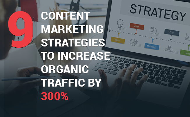 Photo showing a content marketing strategy on a desktop