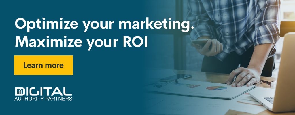 Banner encouraging users to optimize their marketing