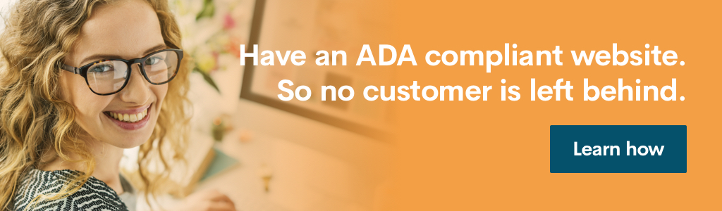 Ad banner encouraging readers to build an ADA compliant website