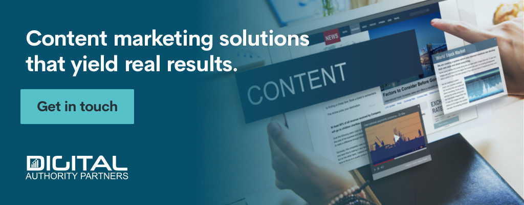 Content marketing solutions that yield real results