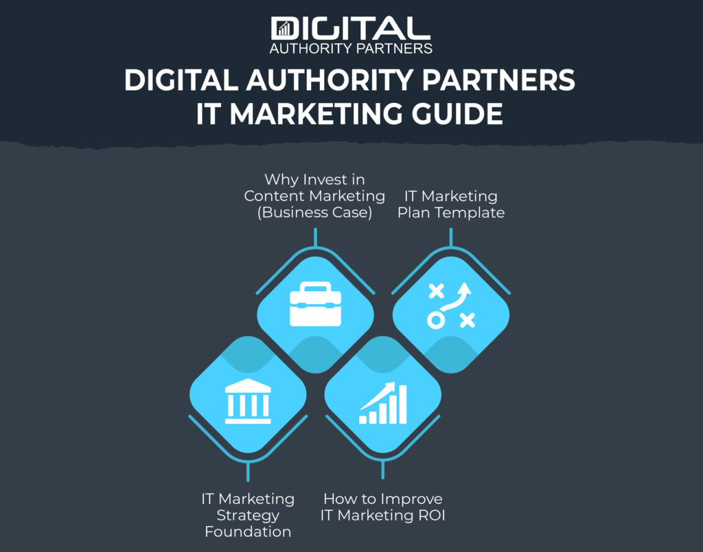Graphic about DAP's IT marketing guide