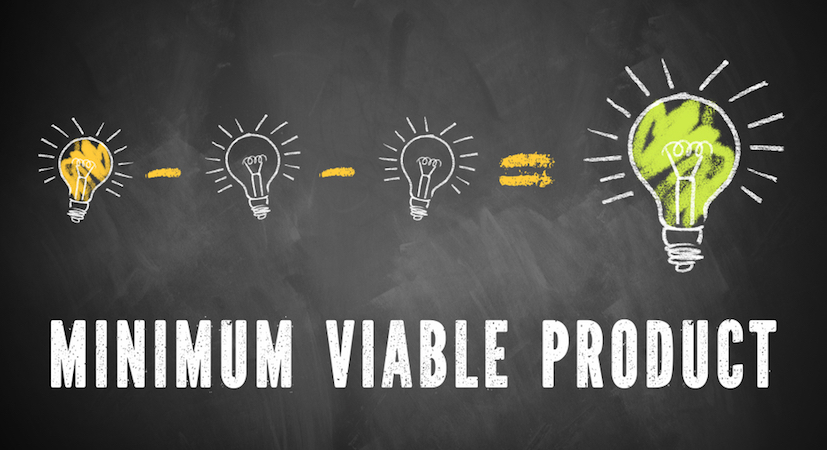 "An equation with the words ""minimum viable product"" underneath it."