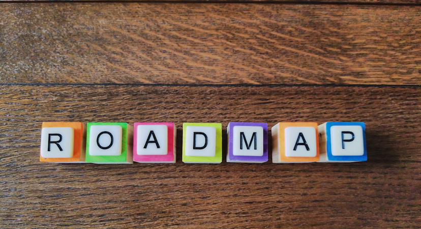 "Blocks spelling out the word ""Roadmap"""