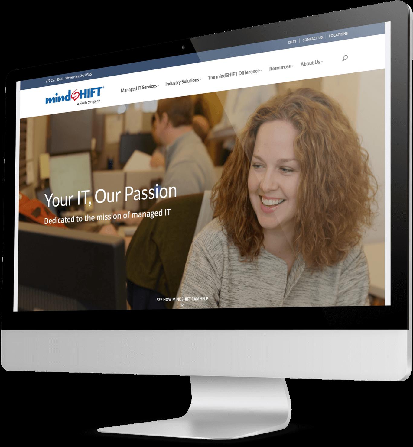 mindSHIFT's homepage shown on desktop