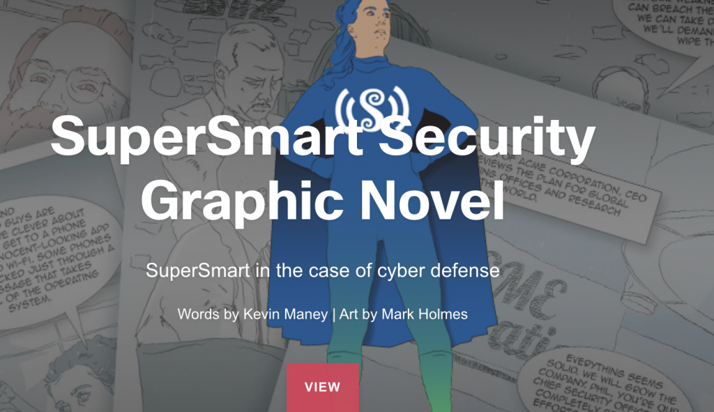 """Cisco's comic-style graphic novel called """"SuperSmart Security."""""""