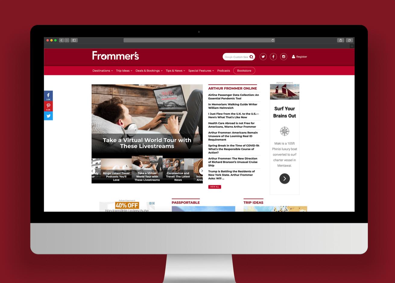 Frommer's website